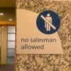 no salesmen